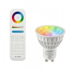 GU10 MiLight RGB+Tunable White LED Bulb - Hubless -4-Watt (35-Watt Equivalent) - 280 Lumens - RF Remote Optional
