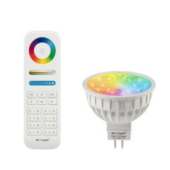 MR16 MiLight RGB+Tunable White LED Bulb - 4-Watt (35-Watt Equivalent) - 280 Lumens - RF Remote Optional