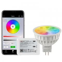 MR16 MiBoxer Wi-Fi Smart LED Bulb - RGB+Tunable White - 4-Watt (40-Watt Equivalent) - 280 Lumens - Smartphone Compatible