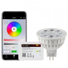 MR16 MiLight Wi-Fi Smart LED Bulb - RGB+Tunable White - 4-Watt (40-Watt Equivalent) - 280 Lumens - Smartphone Compatible