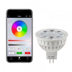 MR16 MiLight Wi-Fi Smart LED Bulb - RGB+Tunable White - 4-Watt (40-Watt Equivalent) - 280 Lumens - Smartphone Compatible