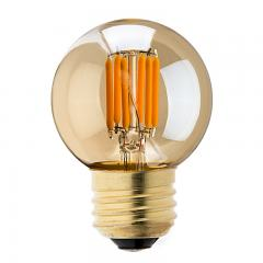G16.5 LED Bulb - Gold Tint LED Filament Bulb - 40W Equivalent - Dimmable - 235 Lumens