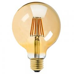 G30 LED Vanity Bulb - Gold Tint LED Filament Bulb - 25 Watt Equivalent - Dimmable - 250 Lumens