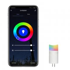 G4 LED Smart Bi-Pin Bulb - RGB Color Changing - Hubless - Smartphone Compatible