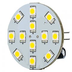 G4 LED Bulb - 2 Watt (25 Watt Equivalent) - 12V AC/DC - Bi-Pin LED Disc - White - 220 Lumens