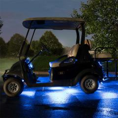 LED Golf Cart Lighting Kit - Multi-Strip Remote Activated RGB Color Changing Kit