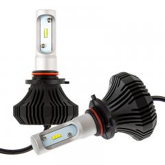 LED Headlight Kit - 9005 LED Fanless Headlight Conversion Kit with Compact Heat Sink