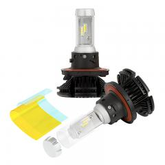 H13 LED Fanless Headlight/Fog Light Conversion Kit with Adjustable Color Temperature and Compact Heat Sinks  - 5,000 Lumens/Set