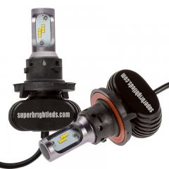 H13 LED Fanless Headlight/Fog Light Conversion Kit with Internal Drivers - 4,000 Lumens/Set