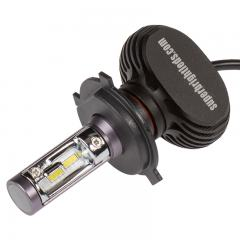 Motorcycle H4 LED Fanless Headlight Conversion Bulb with Internal Driver - 2,000 Lumens