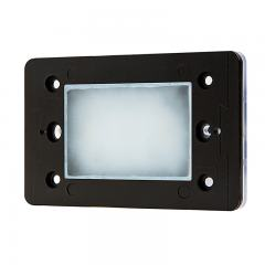 LED Step Lights - Rectangular Deck / Step Accent Light w/ Etched Lens - 12V or 120V - 55 Lumens