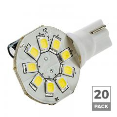 921 LED Landscape Light Bulb - 9 SMD LED Disc - Miniature Wedge Retrofit - 130 Lumens