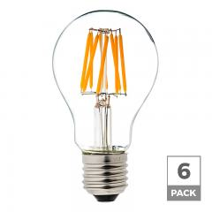 6W A19 Filament LED Light Bulb - 40W Equivalent - 12V - 490 Lumens