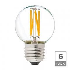 G16.5 LED Filament Bulb - 40 Watt Equivalent Globe Bulb - Dimmable - 285 Lumens