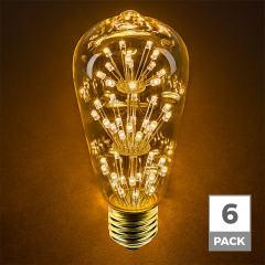 LED Fireworks Bulb - ST18 Decorative Fireworks LED Bulb - 15 Watt Equivalent - Dimmable - 120 Lumens
