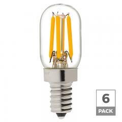 T22 LED Filament Bulb - 20 Watt Equivalent Candelabra LED Vintage Light Bulb - Radio Style - Dimmable - 170 Lumens