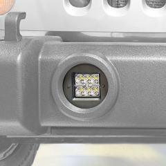 """Jeep Wrangler JK Unlimited (07-2015) LED Fog Light Mounts for 3"""" Square LED Fog Lights"""