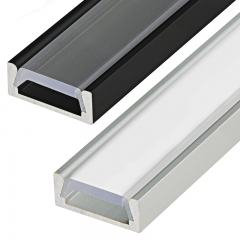 Low Profile Surface Mount LED Profile Housing for LED Strip Lights - Anodized Aluminum MICRO-ALU Series
