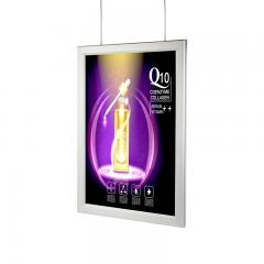 16in x 23in - Silver Aluminum Snap Open Frame - Ultra Thin LED Light Box With Custom Artwork