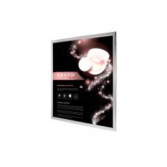 8in x 12in - Silver Aluminum Snap Open Frame - Dimmable- Ultra Thin LED Light Box With Custom Artwork