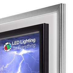 Ultra-Thin LED Light Box w/ Snap-Open Frame and Custom-Printed Luxart® Graphic - 12V Dimmable