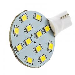 921 LED Landscape Light Bulb - 12 SMD LED Disc - Miniature Wedge Retrofit - 190 Lumens