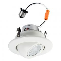 "LED Recessed Lighting Kit for 4"" Cans - Retrofit LED Downlight w/ Eyeball Trim - 60 Watt Equivalent - Dimmable - 750 Lumens"