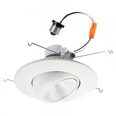 "LED Recessed Lighting Kit for 5""-6"" Cans - Retrofit LED Downlight w/ Eyeball Trim - 100 Watt Equivalent - Dimmable - 1,500 Lumens"