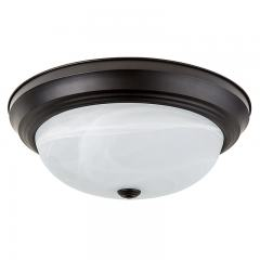 "15"" Flush Mount LED Ceiling Light w/ Oil Rubbed Bronze Housing - 100 Watt Equivalent - Dimmable - 1,600 Lumens"