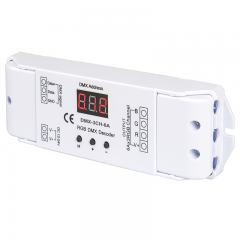 6 Amp 3 Channel DMX 512 Decoder for LED DMX Controllers - Address Digital Display