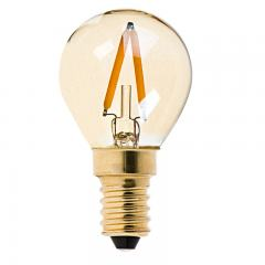 S11 LED Bulb - Gold Tint LED Filament Bulb - 10 Watt Equivalent - E14 Base - Dimmable - 95 Lumens