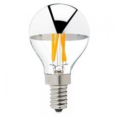G14 Candelabra LED Bulb - Silver Tipped LED Filament Bulb - 40 Watt Equivalent - Dimmable - 275 Lumens