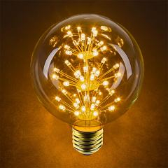 LED Fireworks Bulb - G30 Decorative Fireworks LED Bulb - 15 Watt Equivalent - Dimmable - 125 Lumens