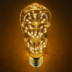 LED Fireworks Bulb - ST18 Decorative Fireworks LED Bulb - 15 Watt Equivalent - Dimmable - 120 Lumens