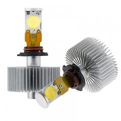 LED Headlight Kit - H10 LED Headlight Bulbs Conversion Kit with Radial Heat Sink