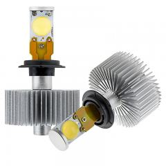LED Headlight Kit - H7 LED Headlight Bulbs Conversion Kit with Radial Heat Sink