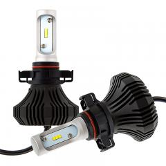 H16 LED Fanless Headlight/Fog Light Conversion Kit with Compact Heat Sink - 4,000 Lumens/Set