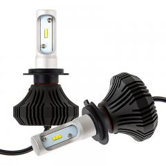 H7 LED Fanless Headlight/Fog Light Conversion Kit with Compact Heat Sink - 4,000 Lumens/Set