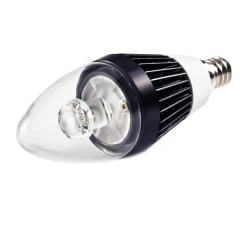 B10 LED Decorative Light Bulb - 10 Watt Equivalent Candelabra LED Bulb w/ Blunt Tip - 75 Lumens