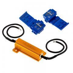 LED Light Load Resistor Kit - LED Turn Signal Hyper Flash & Warning Fix - 50W LED Load Resistor kit