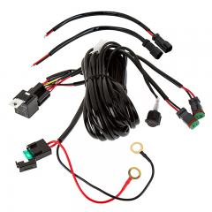 LED Light Wiring Harness with Relay and Weatherproof Switch - Dual on