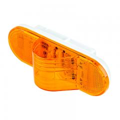 "Oval LED Truck and Trailer Light - 6"" LED Mid-Ship Turn Signal and Side Marker Light - 3-Pin Connector - Flush Mount - 9 LEDs"