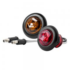 "Round LED Golf Cart Lights w/ Grommet - 3/4"" Side Clearance Light"