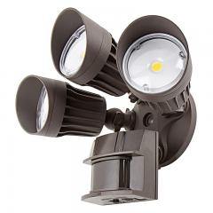 LED Motion Sensor Light - 3 Head Security Light - 30W - 2,450 Lumens