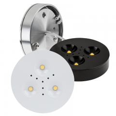 "2.75"" Recessed/Surface Mount LED Puck Lights - 25 Watt Equivalent - 255 Lumens"