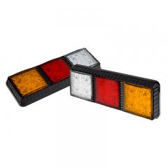LED Rear Combination Lamps - Truck Stop/Turn/Tail/Reverse Lights w/ Configurable Light Heads - Pigtail Connector - Stud Mount