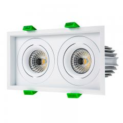 LED Recessed Light Engines w/ Dual Square 98mm Aimable Trim - 75 Watt Equivalent