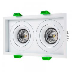 LED Recessed Light Engines w/ Dual Square 98mm Aimable Trim - 70 Watt Equivalent