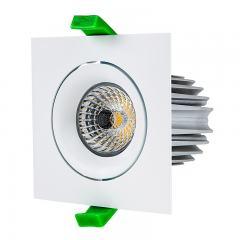 LED Recessed Light Engine w/ Square 90mm Aimable Trim - 75 Watt Equivalent