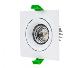 LED Recessed Light Engine w/ Square 90mm Aimable Trim - 60 Watt Equivalent